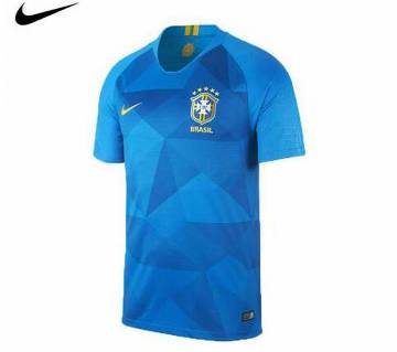 Brazil Half Sleeve Brazil Away Jersey 2018
