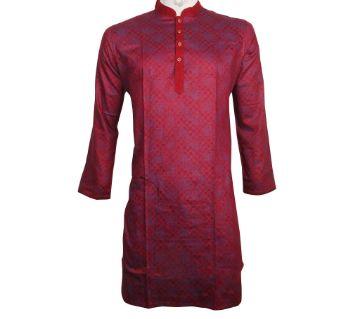 Maroon Satton Fabric Panjabi For Men