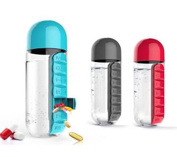 Pill & Vitamin অর্গানাইজার ওয়াটার বোতল