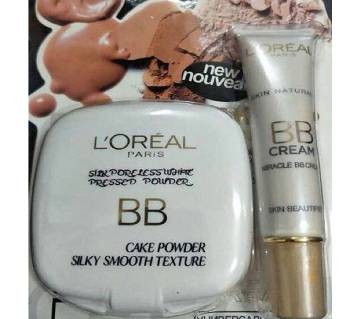 Loreal face powder & BB cream 2 in 1 France