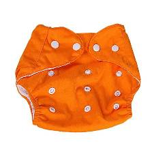 Discovery Kids Reusable Baby Cloth Diaper (3kg-15kg) - Orange