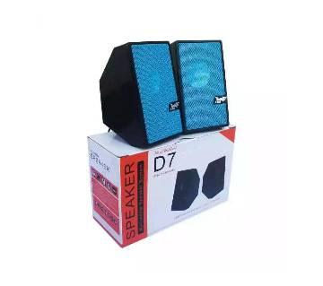 D7 Multimedia Speaker Mini USB 2.0 - Blue