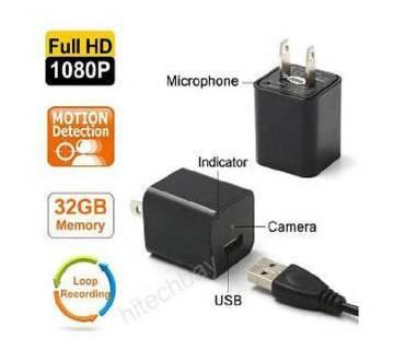 8GB 1080P USB AC অ্যাডাপ্টার স্পাই ক্যামেরা USB ওয়াল চার্জার