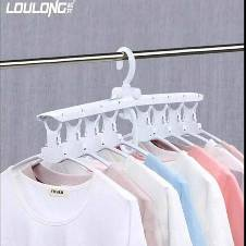 Multi-functional plastic clothes hanger