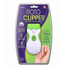 Roto Clipper Electric Nail Trimmer and Nail File - White & Green