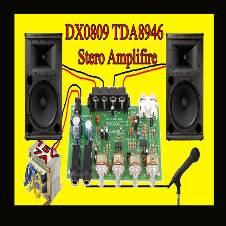 DX0809 TDA 8946 IC Karaoke  60 W Amplifire বোর্ড