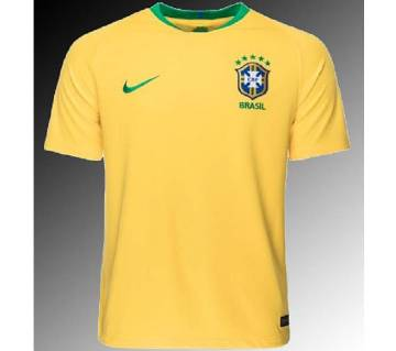 2018 world cup Brasil home short sleeves Jersey