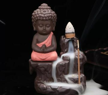 Beautiful Monk with Incense Burner