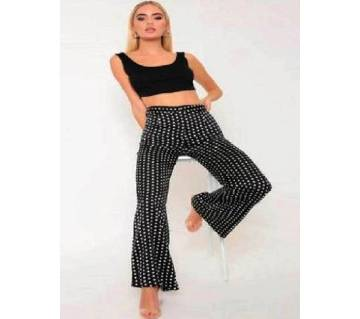 Dot Print Stretched Pant For Lady