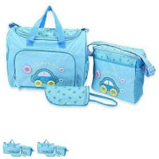Multi function Baby Diaper Bag - Sky Blue