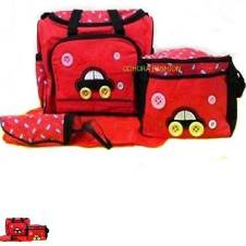 Multi function Baby Diaper Bag-Red
