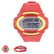 Rubber digital watch for kids - Red