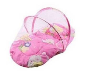Complete soft bed for kids - pink