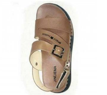 Gents Leather Sandal-Chocolate