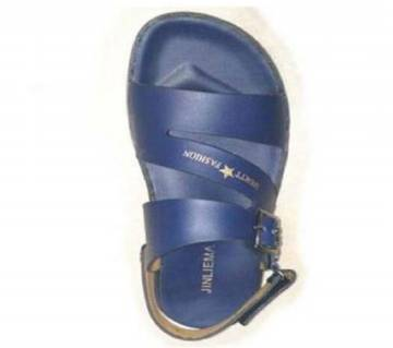 Gents Leather Sandal-Blue