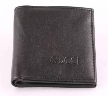 Gucci mens leather wallet black copy