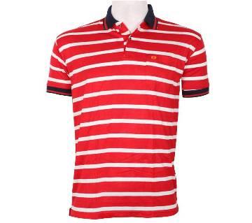 Half Sleeve Striped Polo Shirt For Men