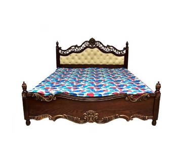 Solid Wood & Oak Vinner Double Size Bed