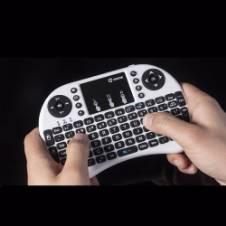 ওয়্যারলেস মিনি কীবোর্ড মাউস টাচ প্যাড ফর PC/TV