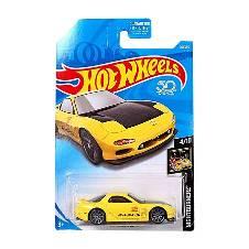 Hot Wheels Metal 95 Mazda RX-7 Toy Car - Yellow