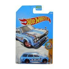 Hot Wheels Metal 71 Datsun Bluebird 510 Toy Car - Blue