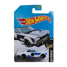 Hot Wheels Metal Nissan Skyline H/T 2000 GT Toy Car - White and Blue