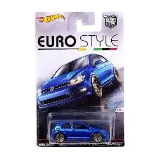 Hot Wheels Metal Euro Style Volkswagen Gold MK7 Toy Car - Blue