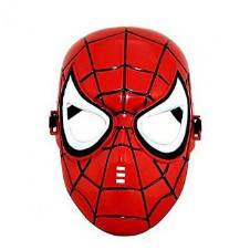 Plastic Spider Man Mask - Red