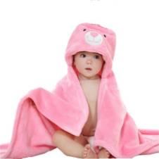 Bath Towel for babies/ Baby cap towels / Fleece Hood Blanket