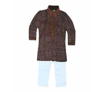 Multi Color Cotton Panjabi Set For Boys