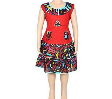 Multicolor Cotton Frock For Girls