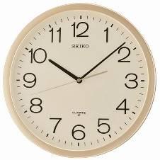 SEIKO Wall Clock 13 inch - Gold and White