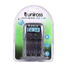 1-2H Uniross Battery ChargerAA/AAA - Black