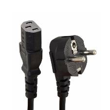 Computer Power Cord Cable Two pin - Black