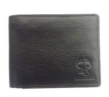 Black Mens Leather Wallet with ID Window, Card Holders