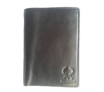 Full-grain Leather Wallet for Men with Coin Pocket, ID Window, Card Holders