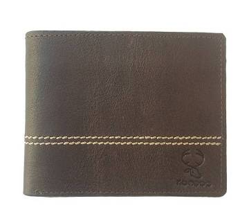 Simple Genuine Leather Wallet for Men with Button Coin Pocket, Card Holders