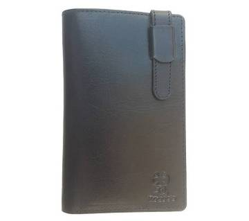Genuine Leather Long Wallet for Men with Card Holders