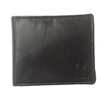 Leather Wallet for Men with Button Coin Pocket, Card Holders