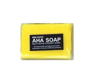 mimi white aha soap 80 gm china