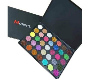 Morphe 35 Colors Eyeshadow Palette Matte Diamond Glitter Foiled   eyeshadow-China