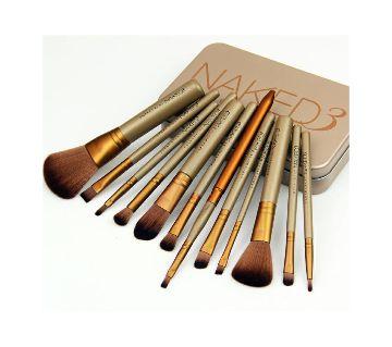 NAKED3 makeup brush set   - 12 pcs-USA