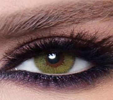 Bella Glow - Lime Green -   contact lens