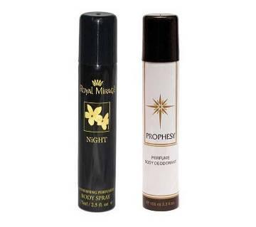 Prophesy & Royal Mirage body spray 2pcs- UAE