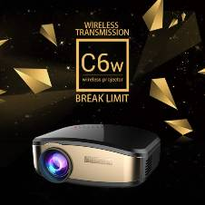Cheerlux C6 Wireless মিনি প্রজেক্টর ওয়াইফাই এডিশন