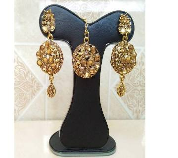 Antic Colour Earring  with Tikli
