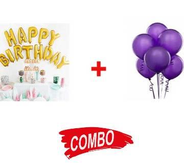 Balloon (100 pcs) + Happy Birthday Balloon Combo Offer