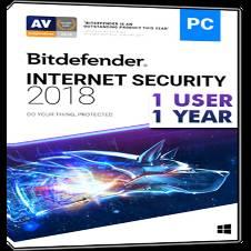 BitDefender Internet Security 2018 (One User)