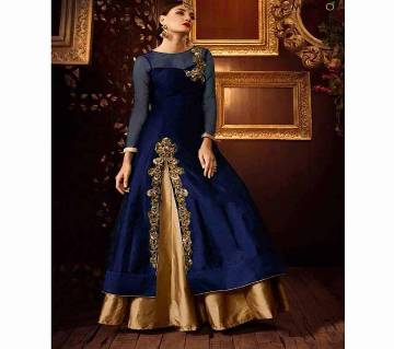Semi-stitched Georgette Embroidery Long Suit (Copy)