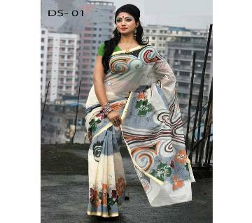 Dhanshiri tat cotton Saree ..